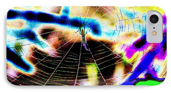 Neon Spider IPhone Case