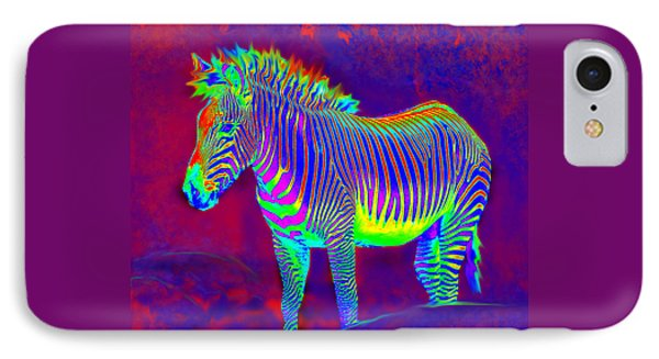 Neon Zebra IPhone Case