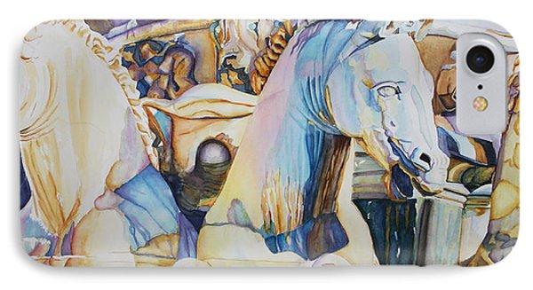 Neptune's Sea Horses - Florence IPhone Case