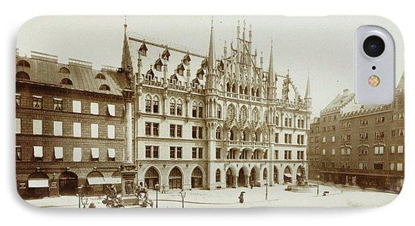Neues Rathaus In Munich At The Marienplatz IPhone Case