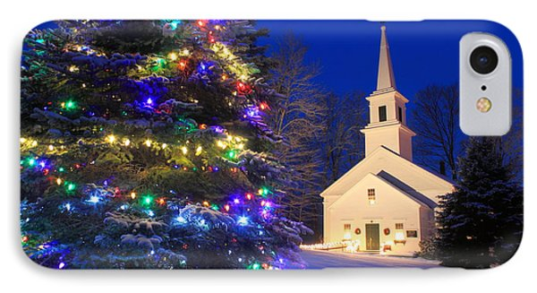 New England Village Christmas Scene Marlow Nh IPhone Case