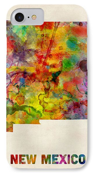 New Mexico Watercolor Map IPhone Case