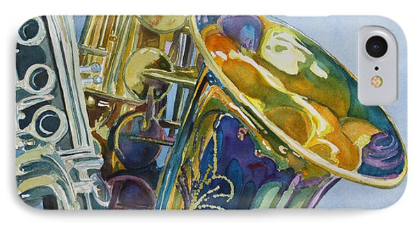 Saxophone iPhone 8 Case - New Orleans Reeds by Jenny Armitage