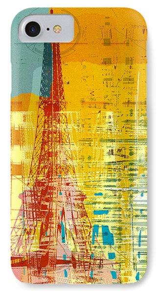 New Paint - Paris Eifel I IPhone Case