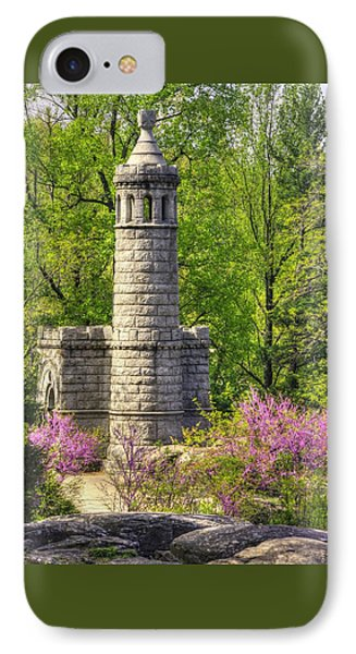 New York At Gettysburg - Monument To 12th / 44th Ny Infantry Regiments-2a Little Round Top Spring IPhone Case