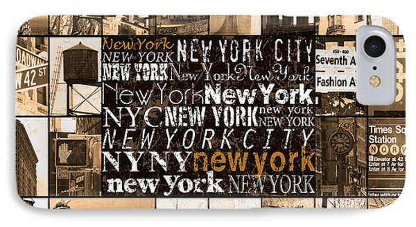 New York Life In Sepia IPhone Case