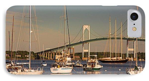 Newport Harbor With Pell Bridge IPhone Case