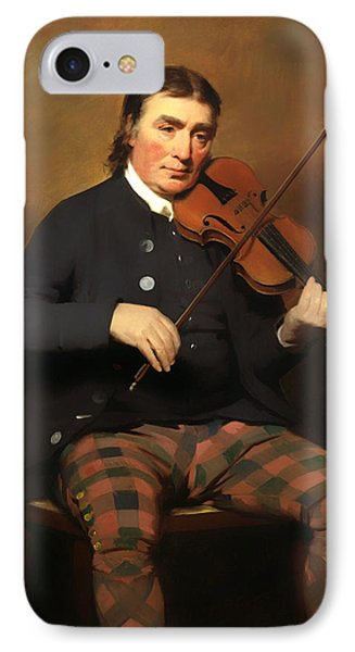 Violin iPhone 8 Case - Niel Gow - Violinist And Composer by Mountain Dreams