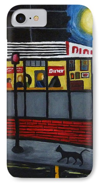 Night At An Arlington Diner IPhone Case