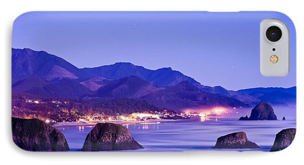 Night View Of Cannon Beach IPhone Case