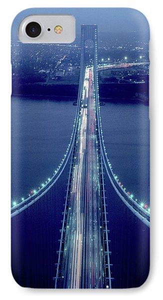 Night View Of Verrazano-narrows Bridge IPhone Case