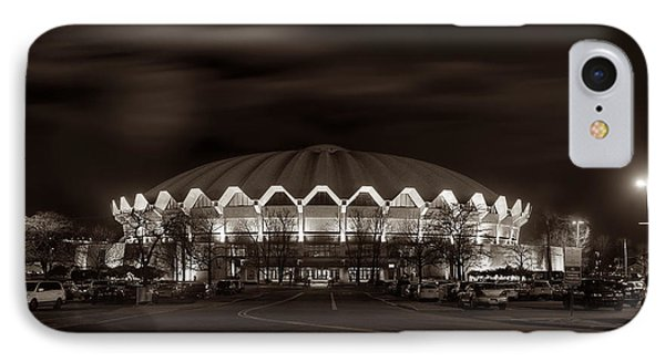 night WVU Coliseum basketball arena IPhone Case
