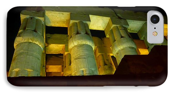 Nightime At Luxor Temple  IPhone Case
