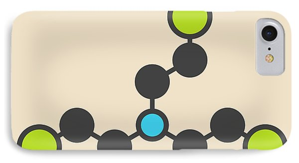 Mustard iPhone 8 Case - Nitrogen Mustard Molecule by Molekuul