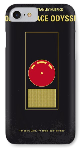 No003 My 2001 A Space Odyssey 2000 Minimal Movie Poster IPhone Case