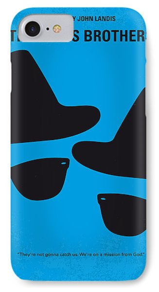 Print iPhone 8 Case - No012 My Blues Brother Minimal Movie Poster by Chungkong Art