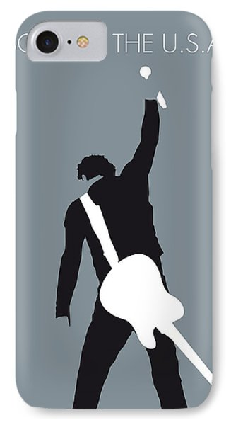 Musicians iPhone 8 Case - No017 My Bruce Springsteen Minimal Music Poster by Chungkong Art