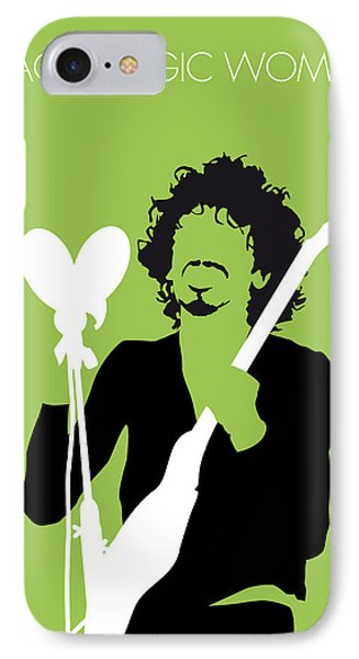 Magician iPhone 8 Case - No046 My Santana Minimal Music Poster by Chungkong Art