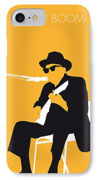 Music iPhone 8 Case - No054 My Johnny Lee Hooker Minimal Music Poster by Chungkong Art