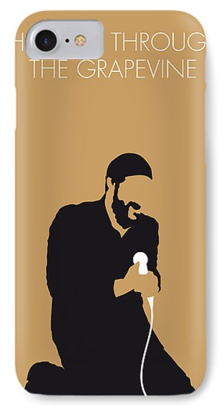 Knight iPhone 8 Case - No060 My Marvin Gaye Minimal Music Poster by Chungkong Art