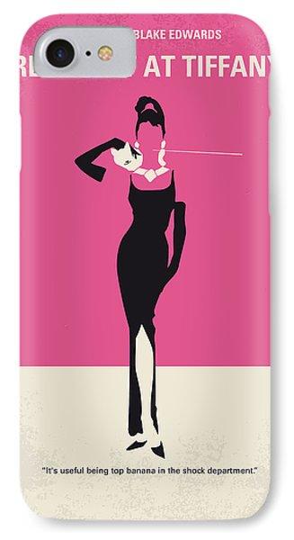 Print iPhone 8 Case - No204 My Breakfast At Tiffanys Minimal Movie Poster by Chungkong Art