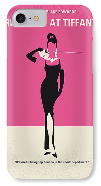 No204 My Breakfast At Tiffanys Minimal Movie Poster IPhone Case