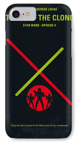 Knight iPhone 8 Case - No224 My Star Wars Episode II Attack Of The Clones Minimal Movie Poster by Chungkong Art