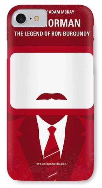 No278 My Anchorman Ron Burgundy Minimal Movie Poster IPhone Case