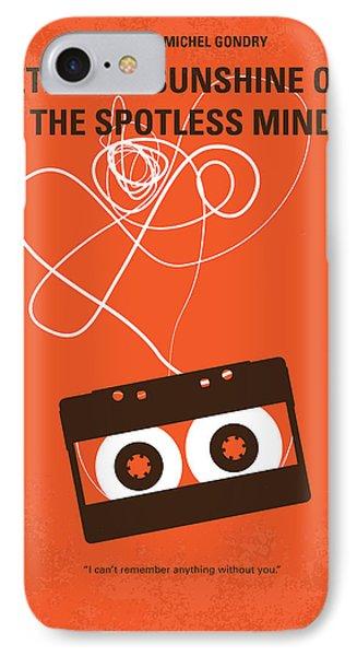 No384 My Eternal Sunshine Of The Spotless Mind Minimal Movie Pos IPhone Case