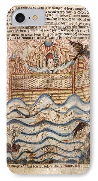 Noah's Flood, 14th-century Manuscript IPhone Case