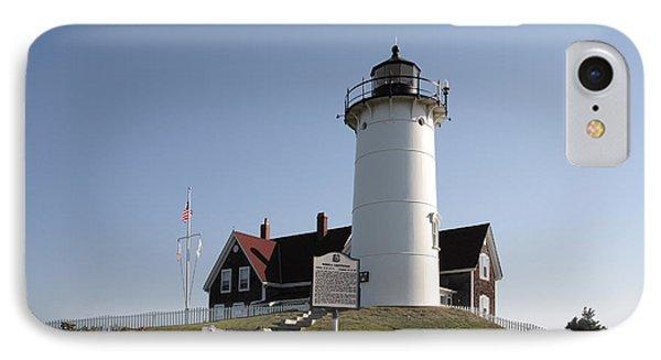 Nobska Lighthouse On Cape Cod At Woods Hole Massachusetts IPhone Case