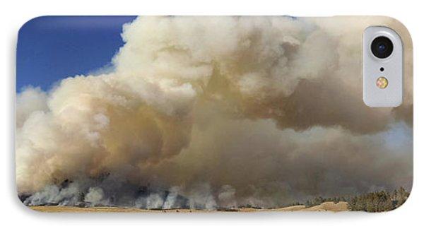 Norbeck Prescribed Fire Smoke Column IPhone Case