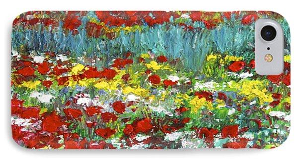 Normandy Poppy Field Dreams  II IPhone Case