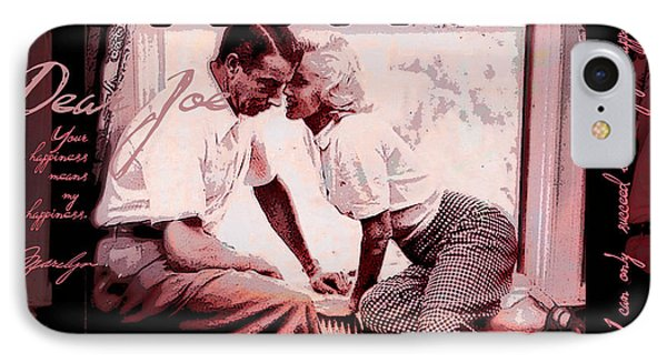 Nostalgia Joe Dimaggio And Marilyn Monroe Your Happiness Means My Happiness IPhone Case