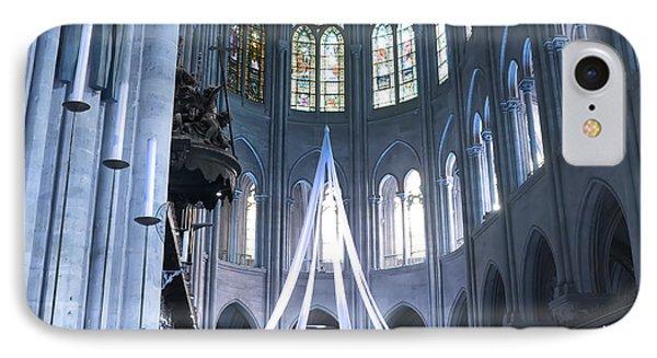 Notre Dame Altar Teal Paris France IPhone Case