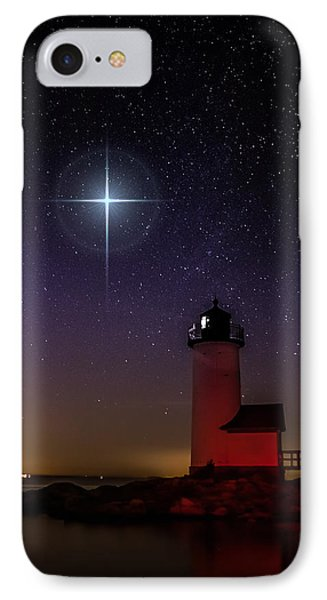 Star Over Annisquam Lighthouse IPhone Case