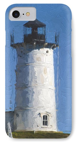 Nubble Lighthouse Maine Painterly Effect IPhone Case