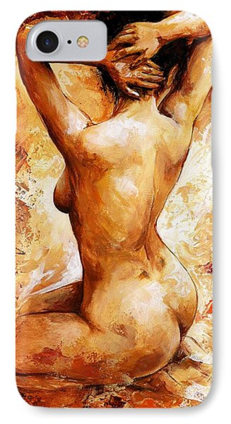Nudes iPhone 8 Case - Nude 06 by Emerico Imre Toth