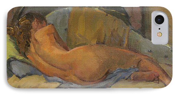 Nude On Chaise Longue IPhone Case
