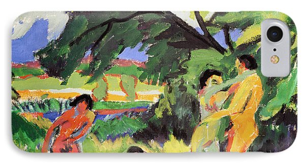 Nudes Playing Under Tree IPhone Case
