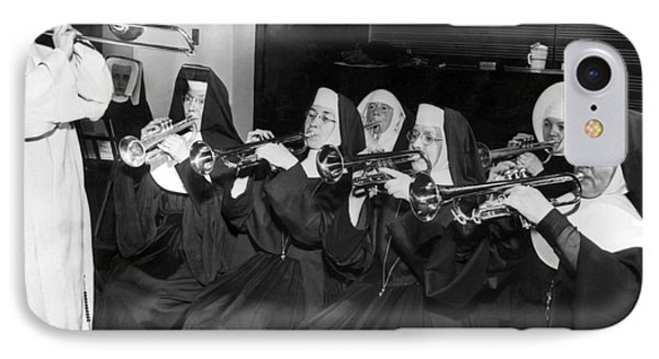 Trombone iPhone 8 Case - Nuns Rehearse For Concert by Underwood Archives