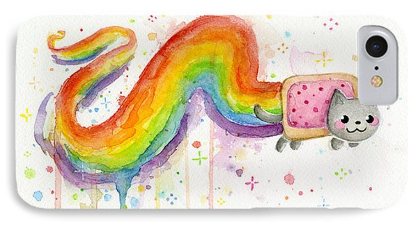 Nyan Cat Watercolor IPhone Case