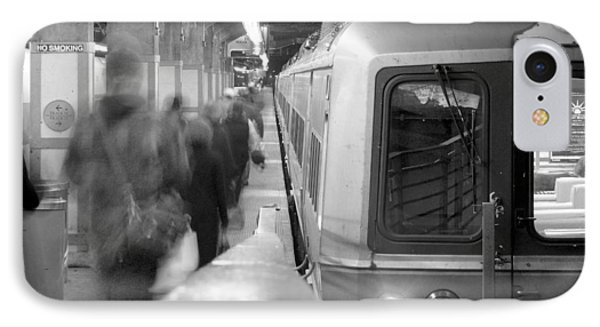 Train iPhone 8 Case - Metro North/ct Dot Commuter Train by Mike McGlothlen