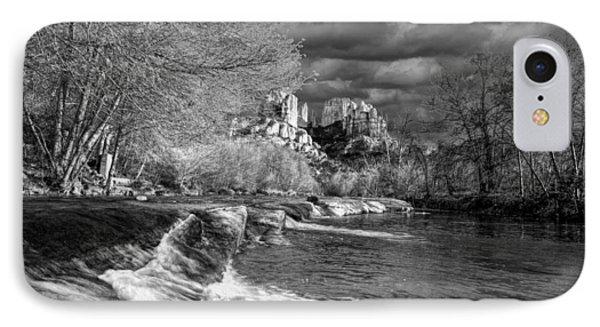 Oak Creek Flowing Below Cathedral Rock IPhone Case