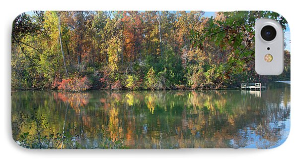 Oak-hickory Forest At Lake IPhone Case