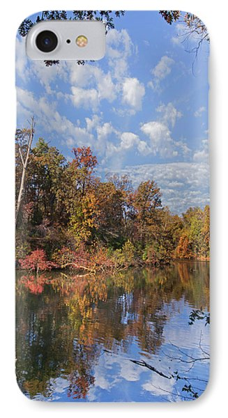 Oak-hickory Forest In Autumn Foliage IPhone Case