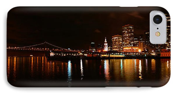 Oakland Bay Bridge At Night IPhone Case