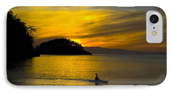Ocean Sunset At Rosario Strait IPhone Case