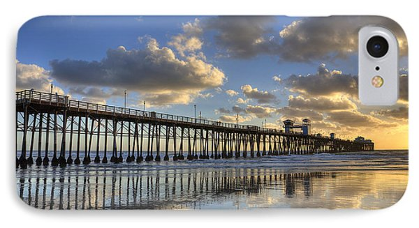 Oceanside Pier Sunset Reflection IPhone Case