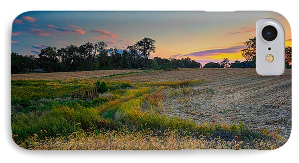 October Evening On The Farm IPhone Case